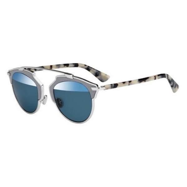 Dior DiorSo Real P7Q/8N PALLADIUM GREY FOG HAVANA/BLUE MIRROR 762753393111 P7Q/8N PALLADIUM GREY FOG HAVANA/BLUE MIRROR