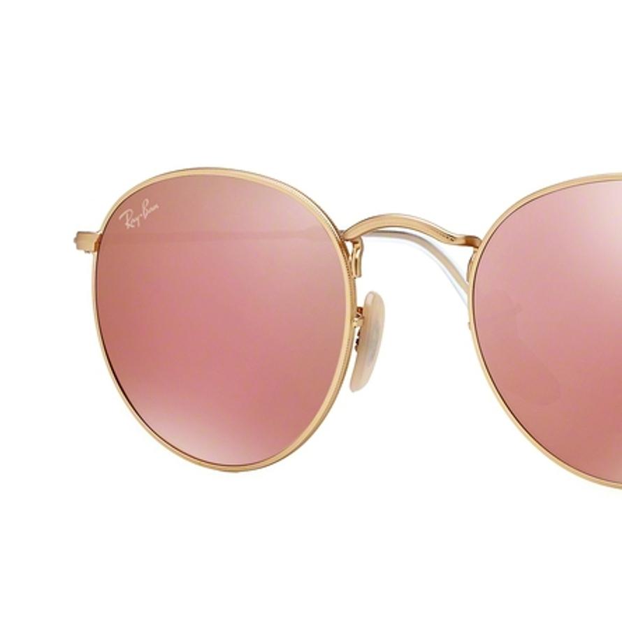 comprare popolare 1b039 a7810 LENTI DI RICAMBIO RAY-BAN brown mirror pink RB3447 ROUND METAL ...
